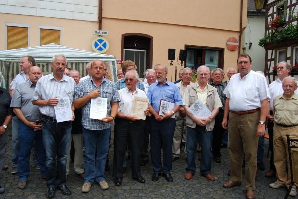 v. l. n. r. H.Freisberg, U.Gramsch, G.Brühl, H.Helfrich, K.H.Fickinger