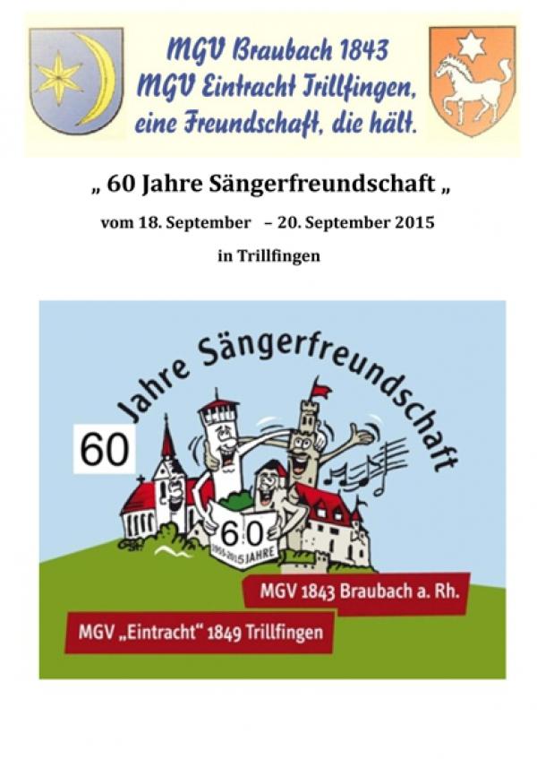 60 Jahre Sängerfreundschaft